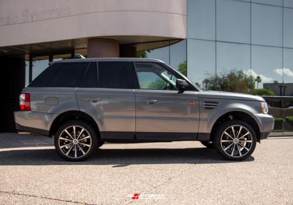 20 inch Curva Concepts C10N Gloss Black Machined on a 2008 Land Rover Range Rover Sport