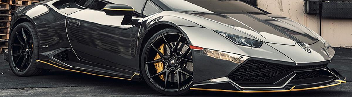 Staggered Wheels on Lamborghini
