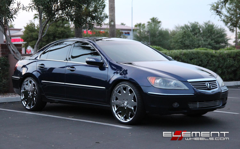 MRR HR Chrome Inch Wheels On Acura RL W Specs Element Wheels - 2006 acura rl a spec