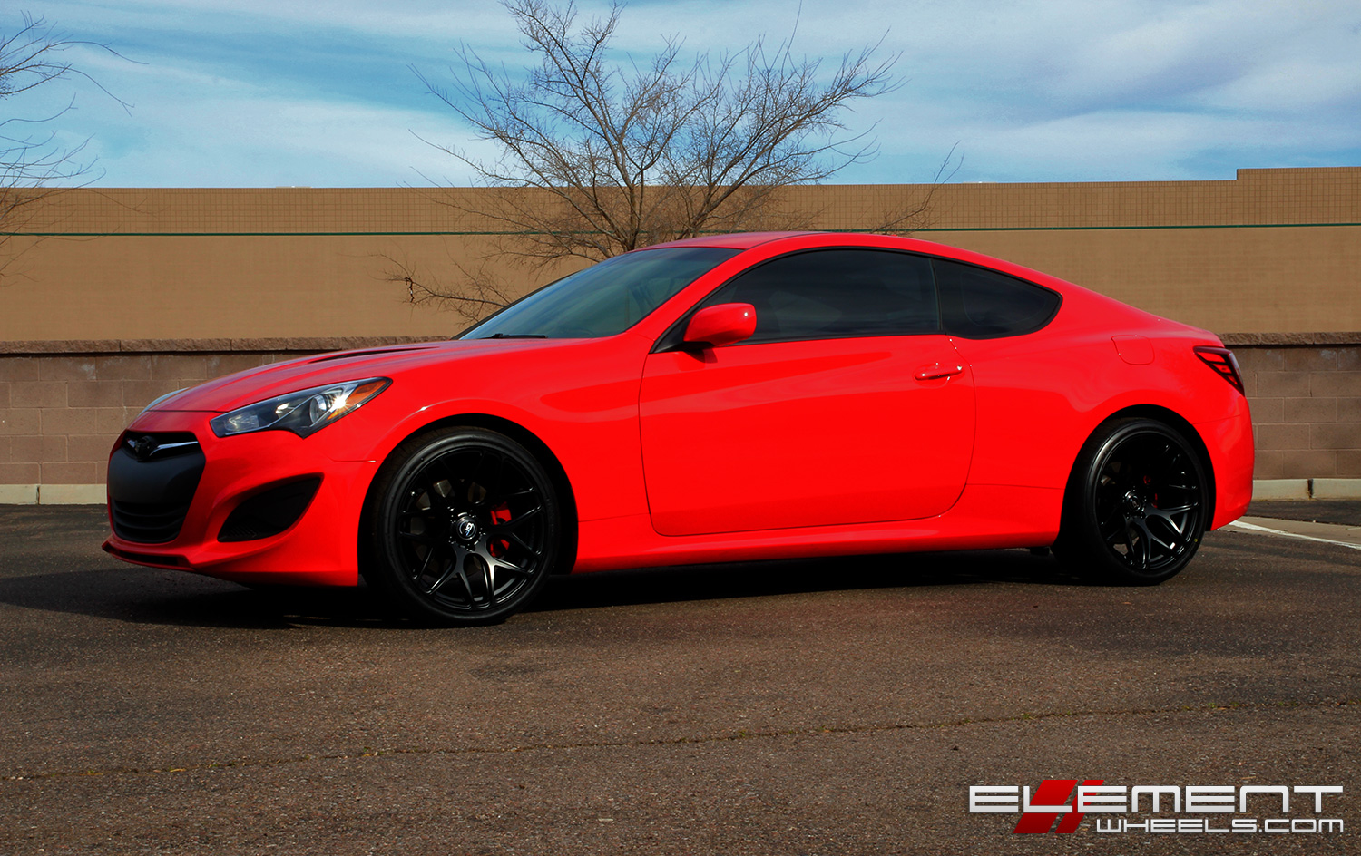 19 Inch Staggered Ground Force GF09 Matte Black On 2013 Hyundai Genesis  Coupe W/ Specs | Element Wheels