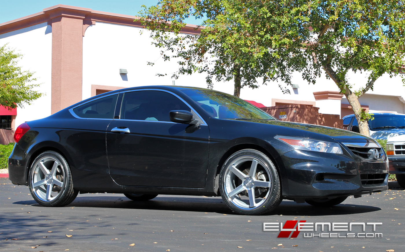 Stance SC5 Silver/Machined Wheels On 2014 Honda Accord Coupe W/ Specs |  Element Wheels