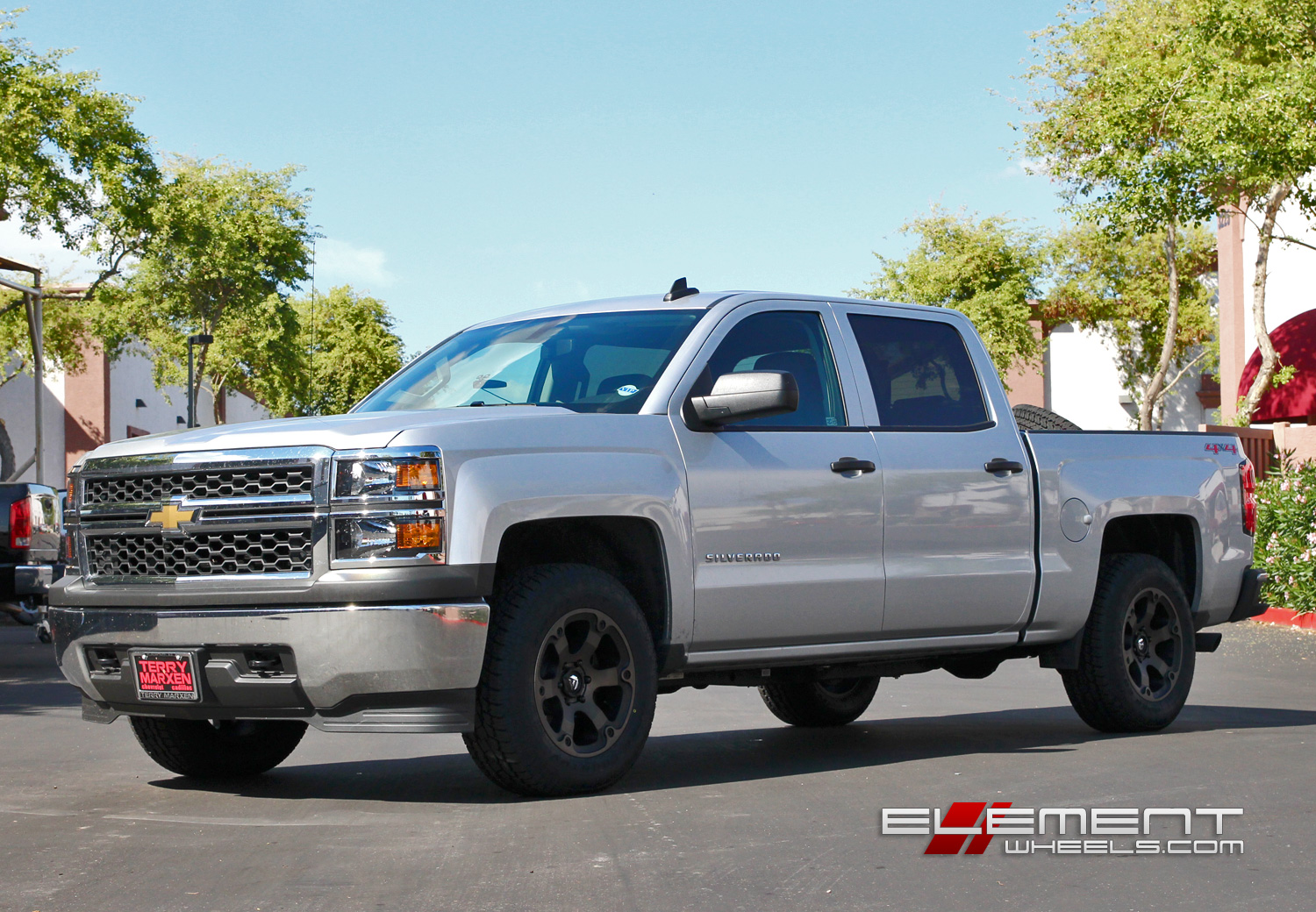 18 Inch Fuel Beast Black Machined Wheels On 2015 Chevy