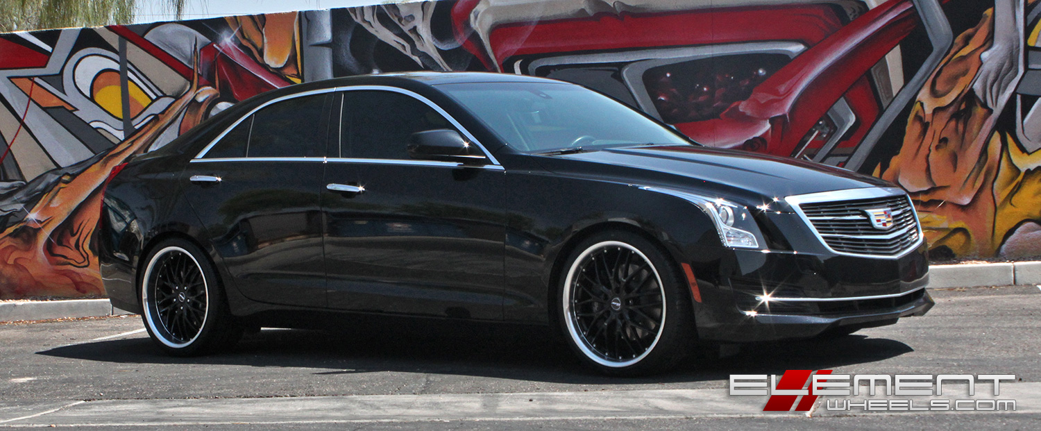 19 in staggered MRR GT1 Black on a 2016 Cadillac ATS Sedan ...
