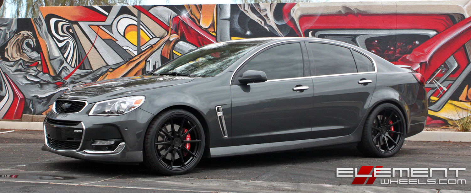 20 Inch Niche Essen Matte Black On A 2015 Chevy Ss Sedan W Specs