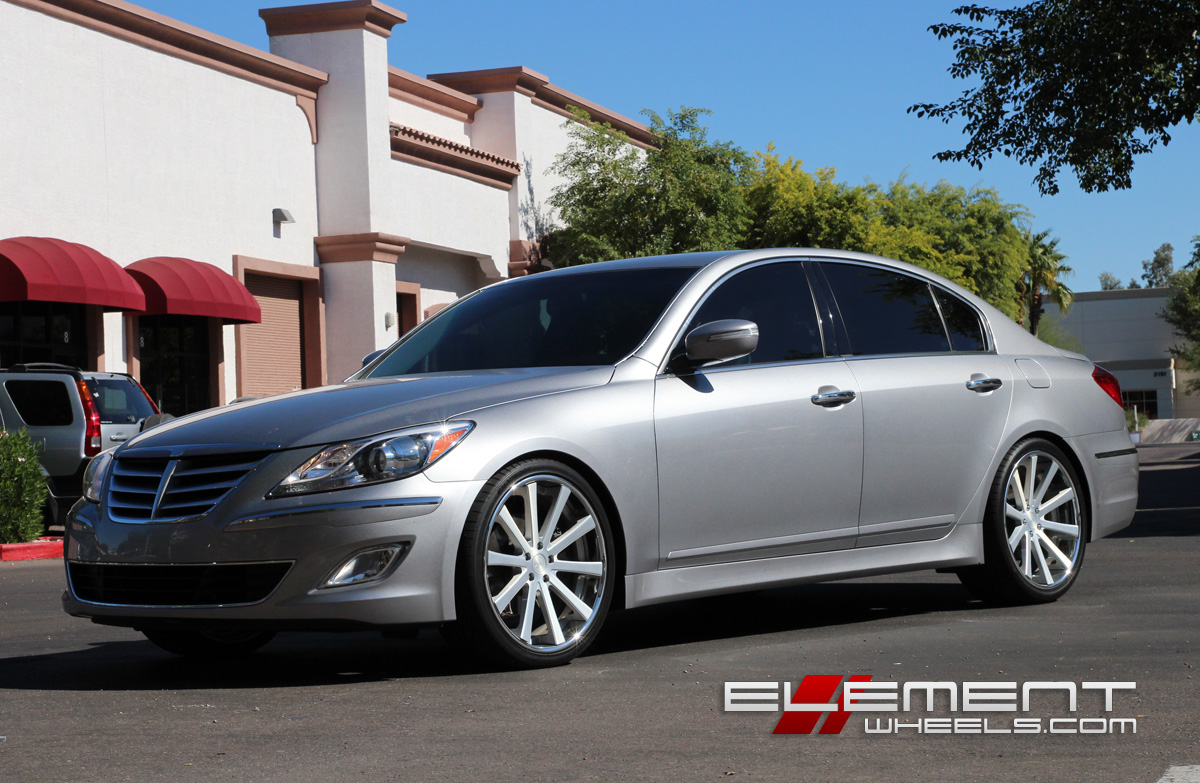 21 inch Staggered DUB 1 wheels On 2012 Hyundai Genesis Sedan w/ Specs |  Element
