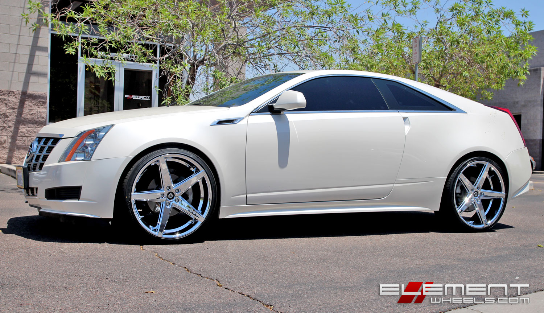 22 Inch Lexani R04 Chrome On 2013 Cadillac CTS W Specs