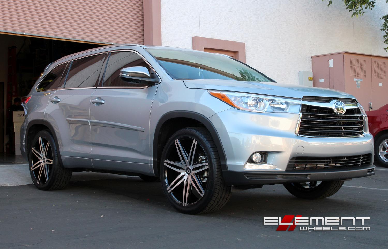 Lexani Johnson 22 Inch On 2014 Toyota Highlander W Specs Element Wheels