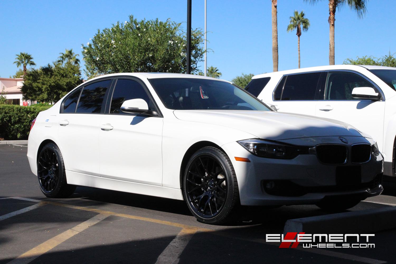 Avant Garde M359 19 inch Staggered on 2013 BMW 3 Series Sedan w