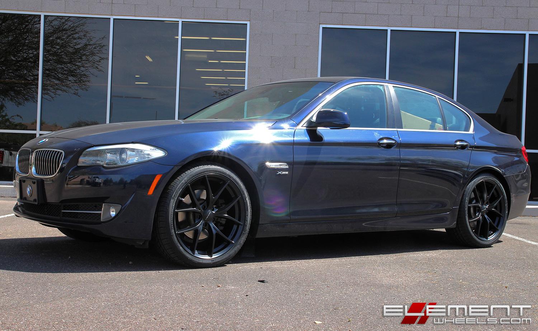20 Inch Kmc Km694 Wishbone Satin Black On 2012 Bmw 528i X Drive W Specs Element Wheels