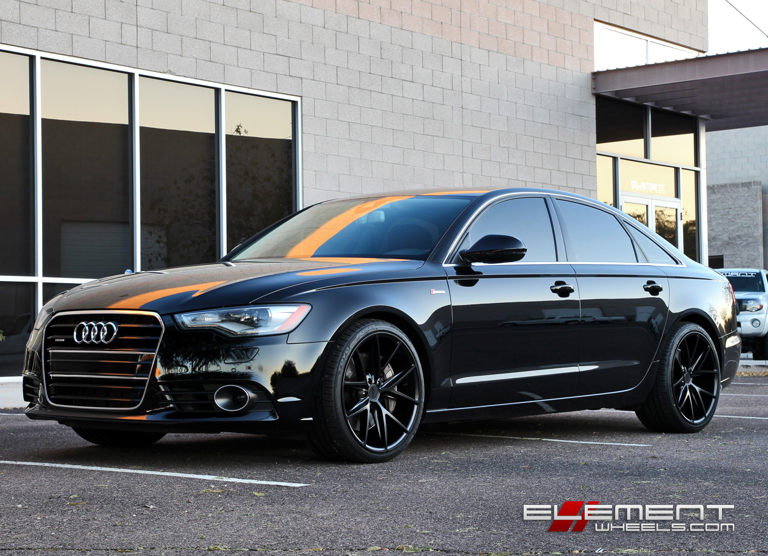 20 215 10 Niche Misano Matte Black Wheels On 2012 Audi A6