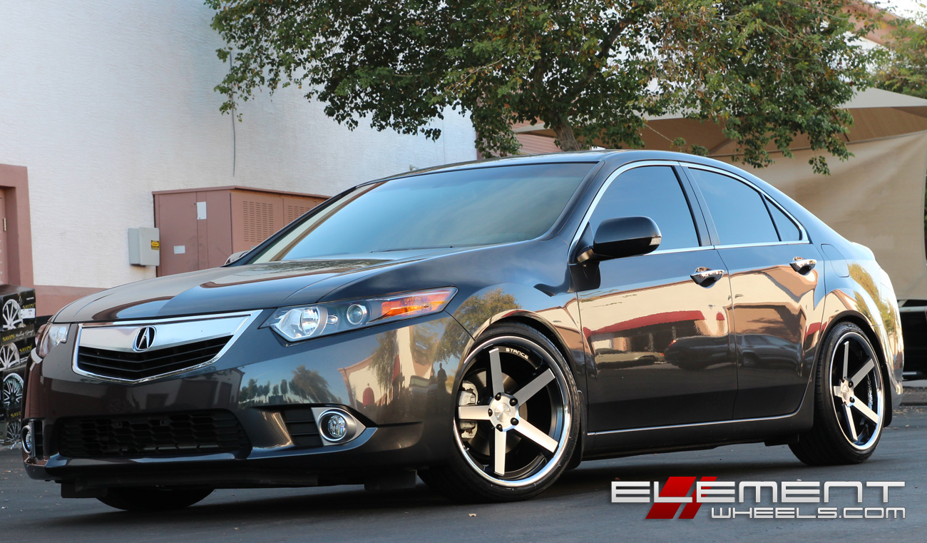 stance sc5 black machined wheels on 2013 acura tsx w. Black Bedroom Furniture Sets. Home Design Ideas
