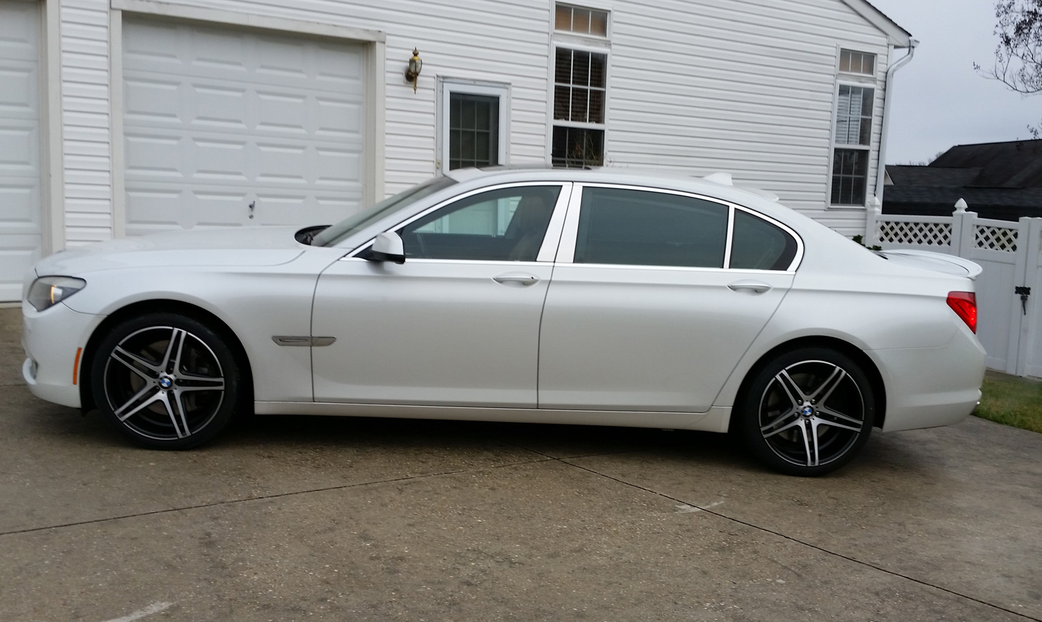 XO Caracas Black Brushed Wheels On BMW Series Li W - 2009 bmw 745