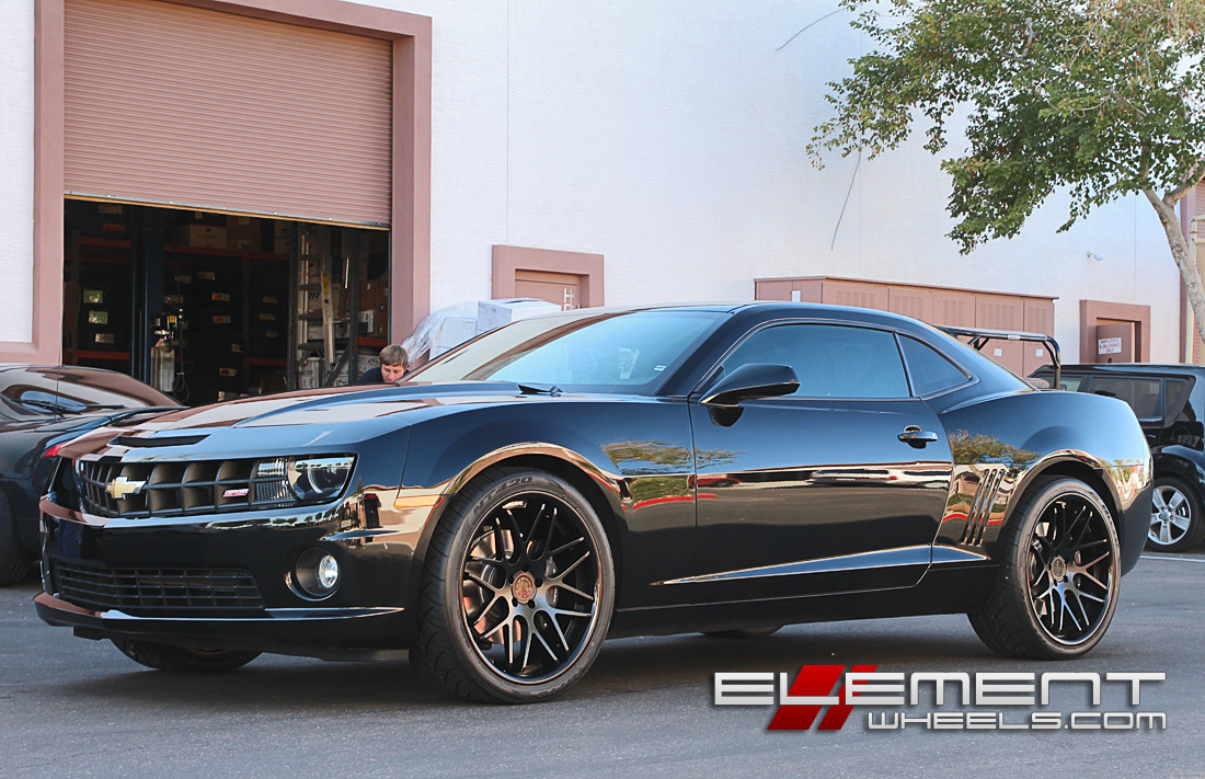 22 inch vertini magic all black on 2012 chevy camaro ss w specs element wheels. Black Bedroom Furniture Sets. Home Design Ideas