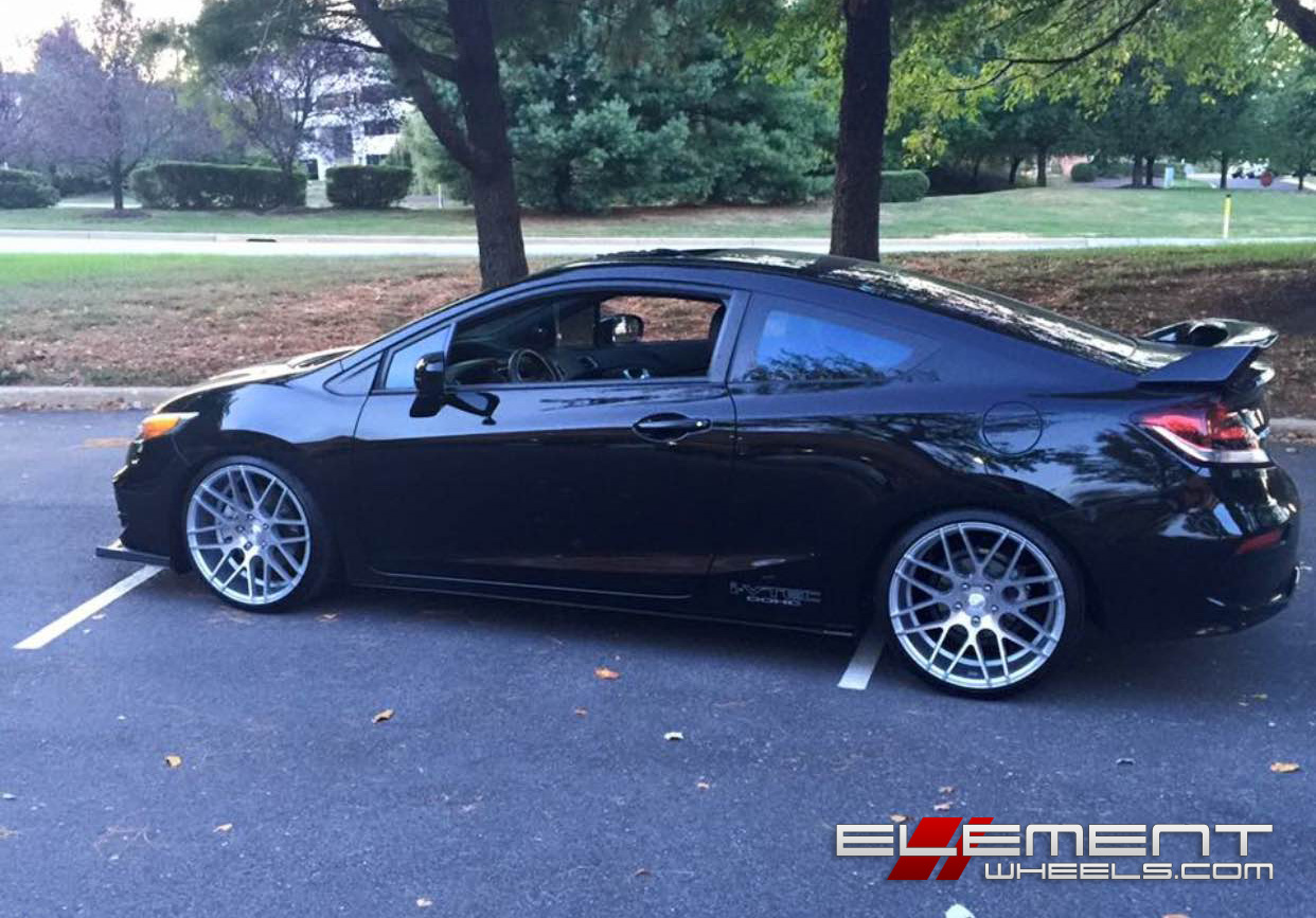 19 inch groundforce gf07 on 2015 honda civic si coupe w specs element wheels. Black Bedroom Furniture Sets. Home Design Ideas