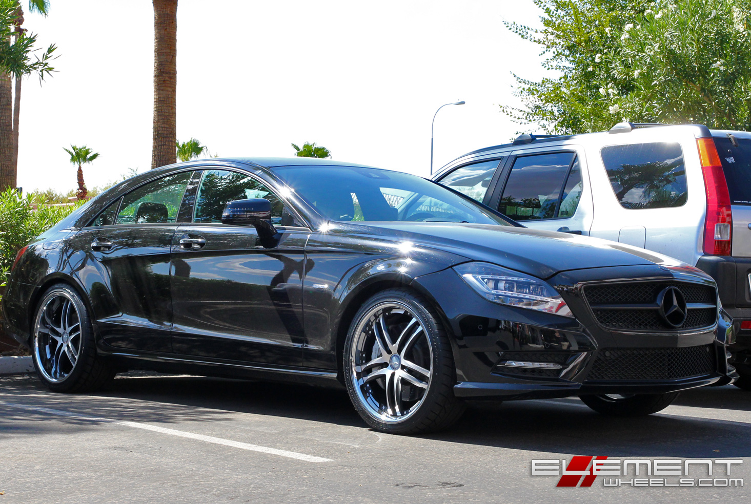 Concept One RS55 Black Machined Wheels On 2012 Mercedes CLS550 W Specs