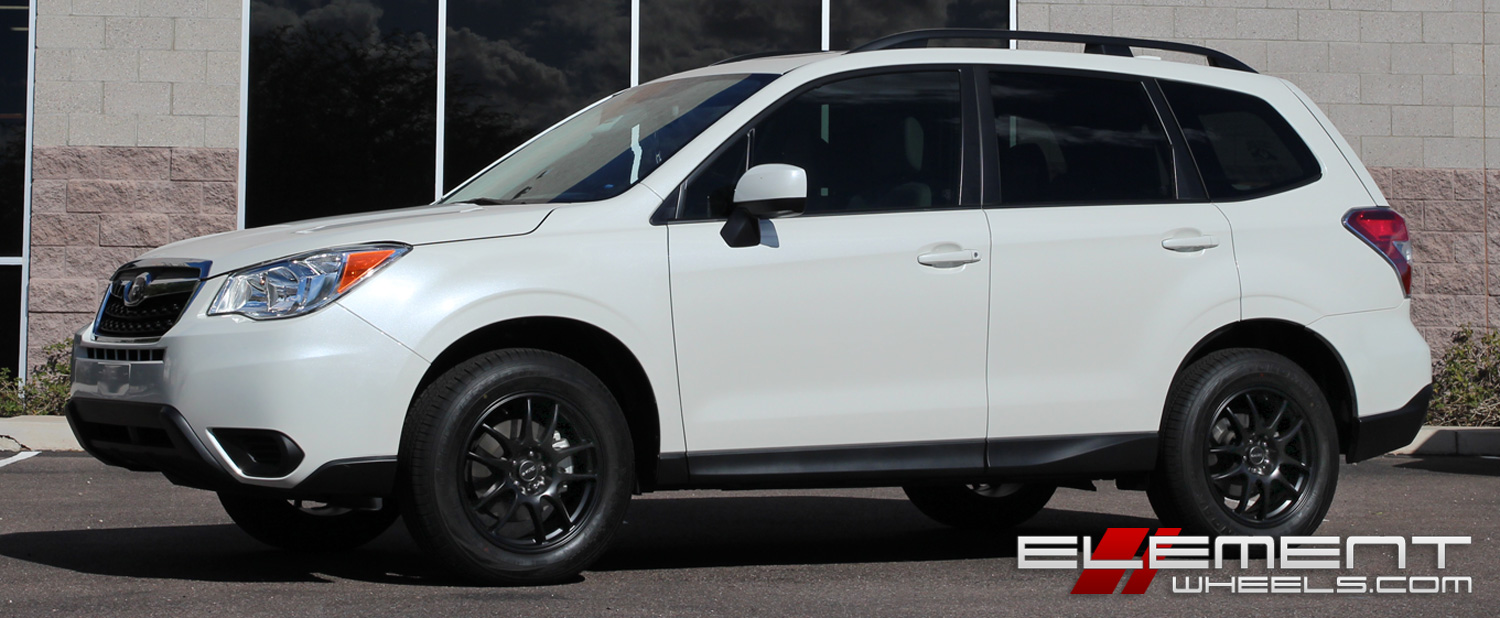 17 Inch Drag Dr 31 All Matte Black On 2016 Subaru Forester W Specs Element Wheels