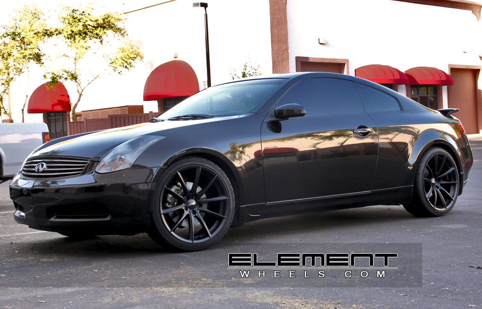 ace convex matte black on 06 infiniti g35 coupe w specs. Black Bedroom Furniture Sets. Home Design Ideas