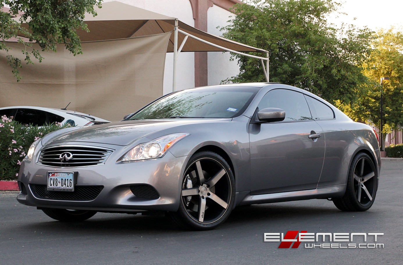 20 Inch Staggered Black Machined W Tint Infiniti G37s Coupe W Specs Element Wheels