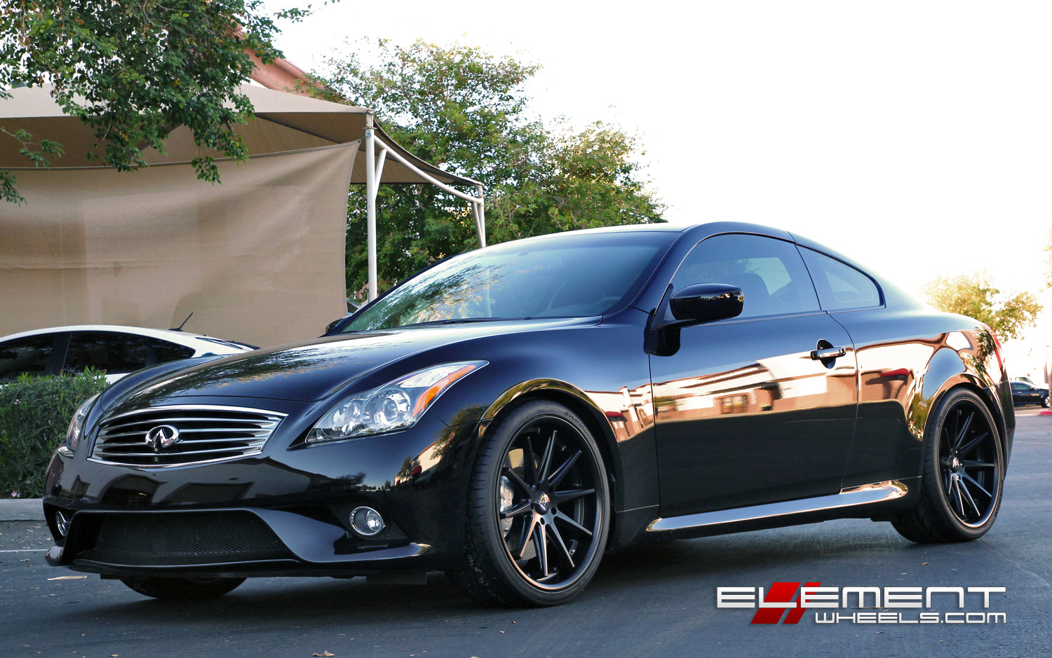 Staggered Concave Rohana Rc10 Matte Black On Infiniti G37s Coupe W Specs Element Wheels