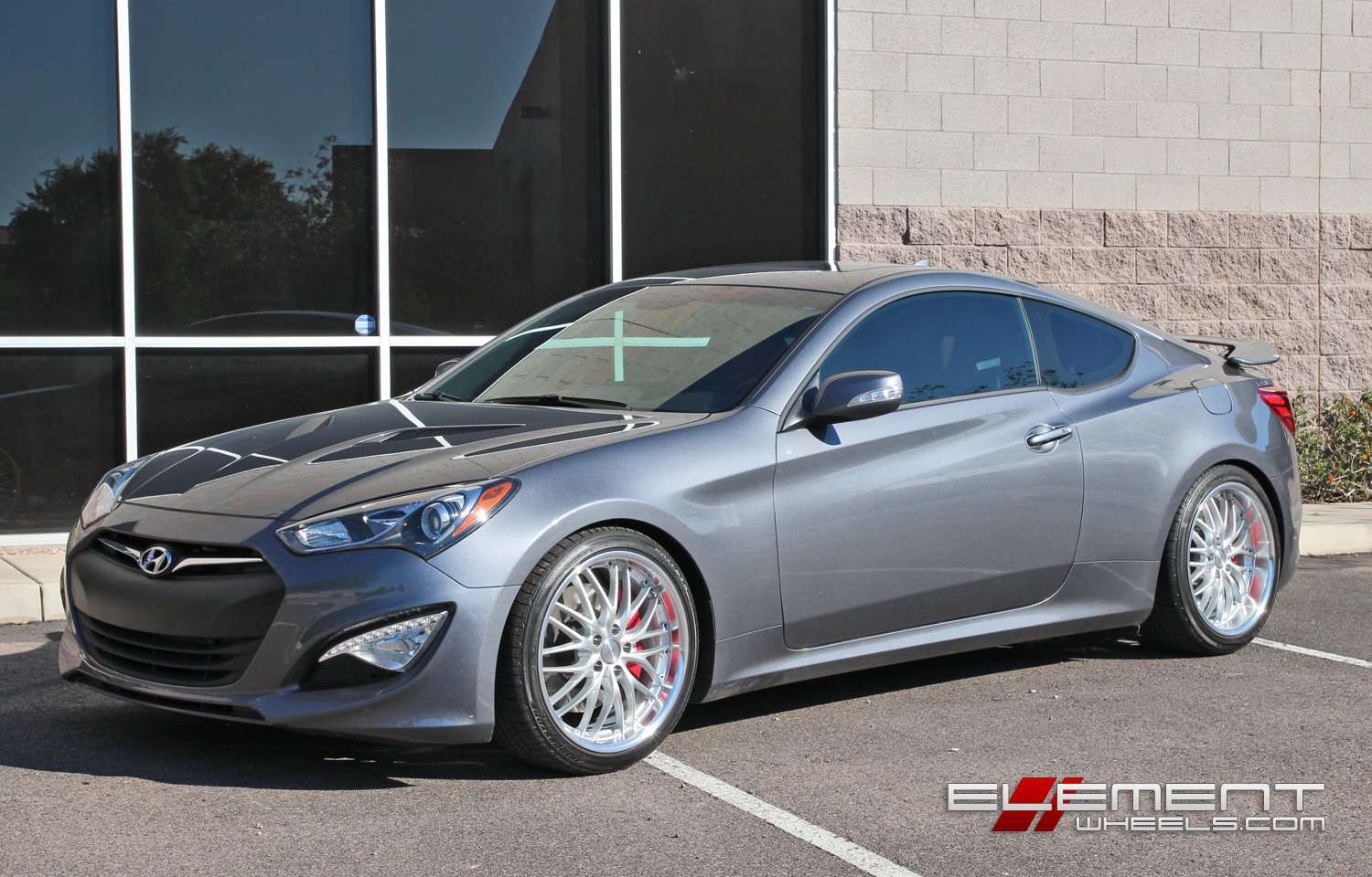 19 Inch Mrr Gt 1 Silver On 2015 Hyundai Genesis Coupe