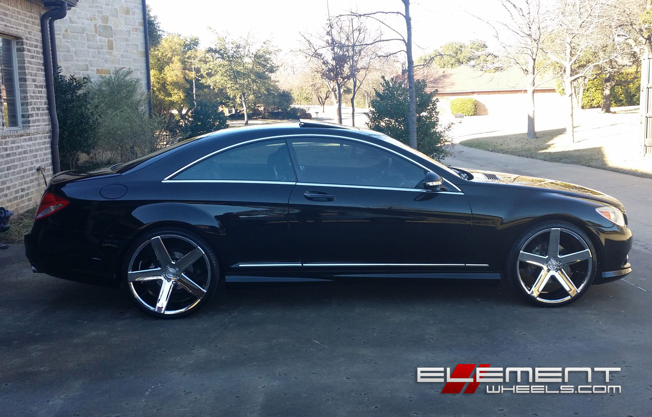 Staggered 22 Inch Heavy Hitters Hh15 On 2008 Mercedes