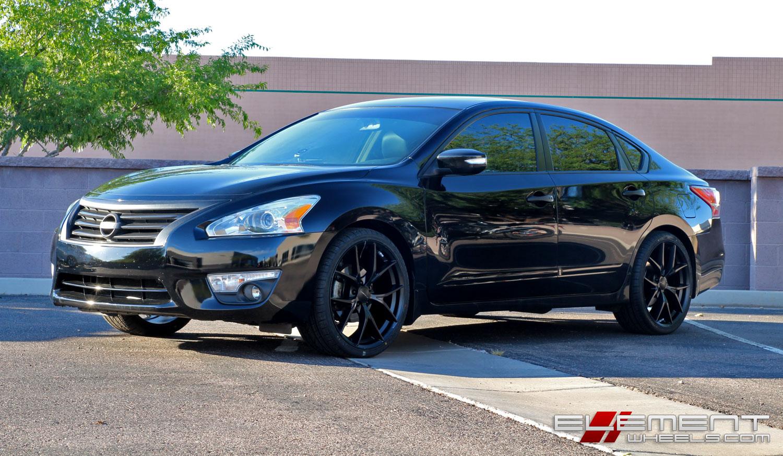 20×8.5 KMC Wishbone Satin Black On 2013 Nissan Altima W/ Specs | Element  Wheels