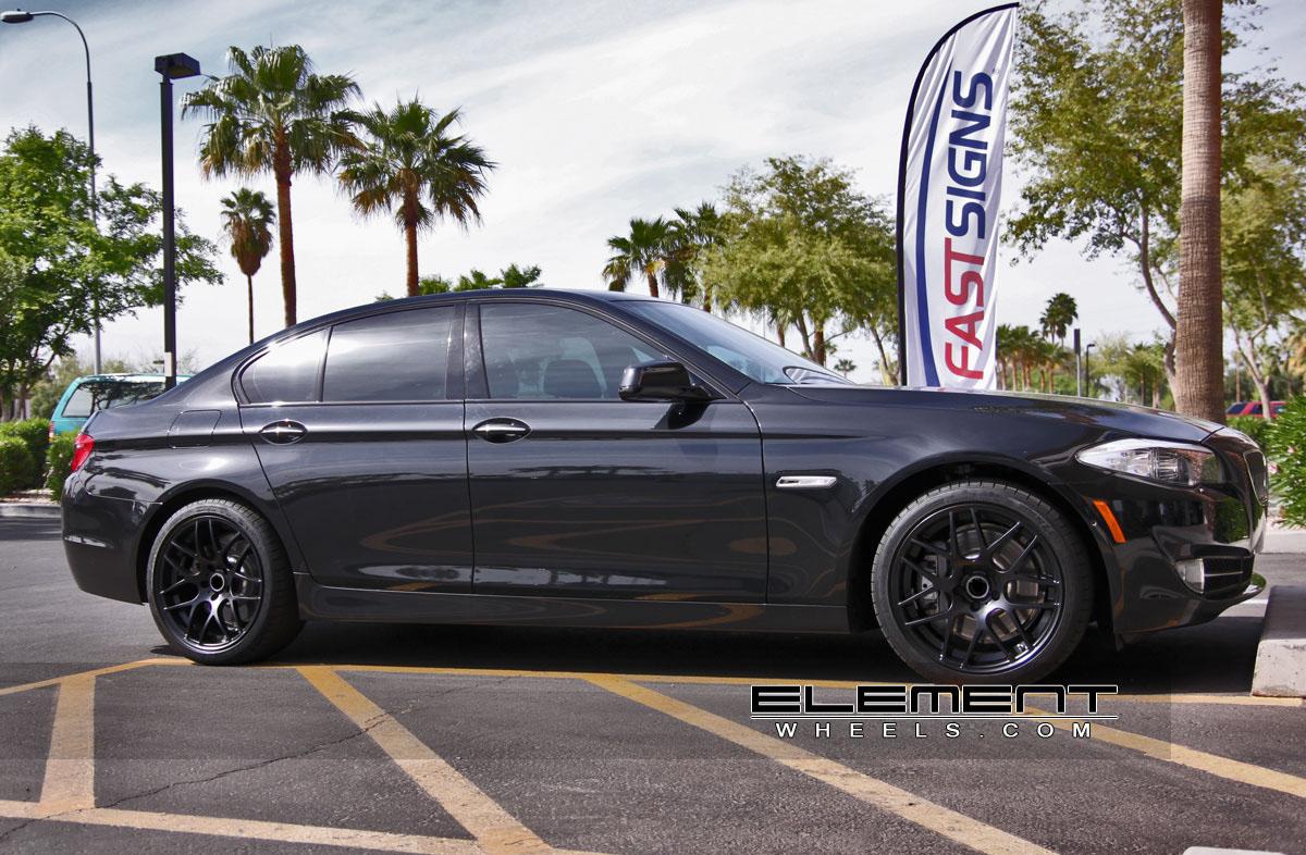 Eurotek Wheels Black On BMW Series W Specs Element Wheels - 2011 bmw 5 series rims