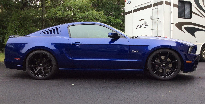 20 Inch Staggered Black Di Forza Bm 10 Matte Black On 2014 Ford