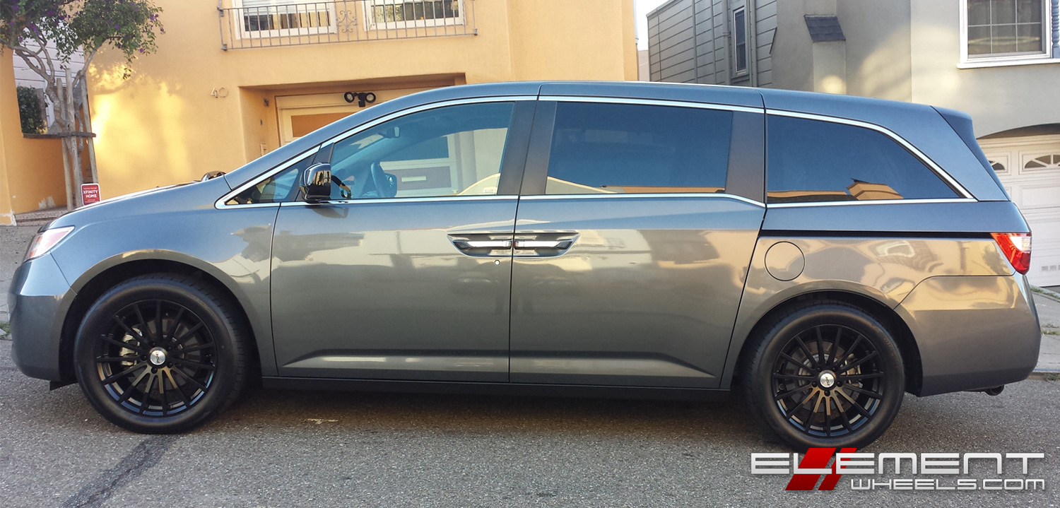19 Inch Tsw Mallory 5 Matte Black On 2011 Honda Odyssey W Specs Element Wheels