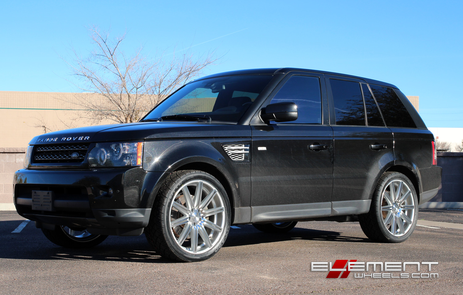 Range Rover L322 22 Inch Wheels >> 22 inch Vossen CV4 Silver Machined on 2012 Range Rover Sport w/ Specs | Element Wheels