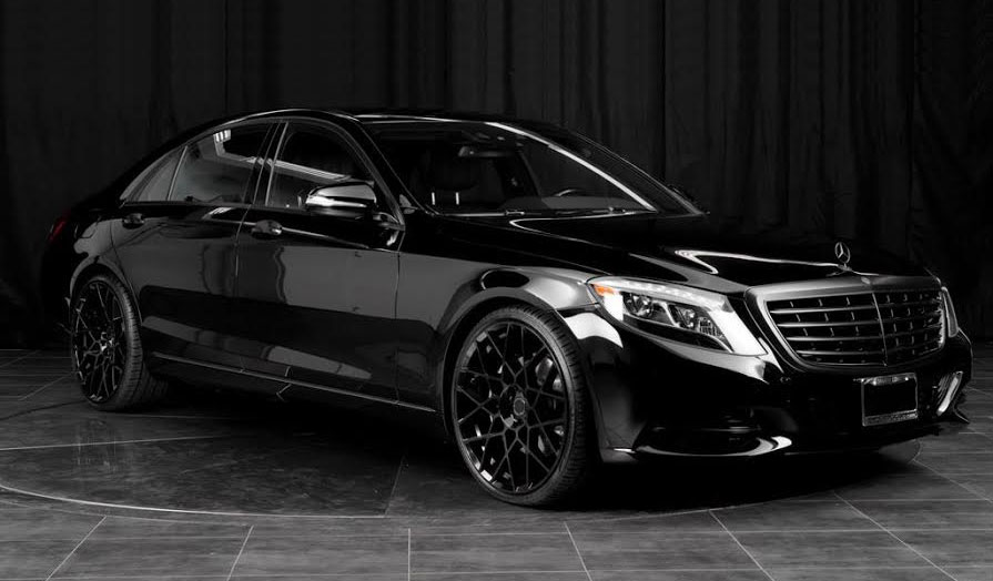 22 Inch Staggered Rsr R704 All Black On 2016 S550 S Class