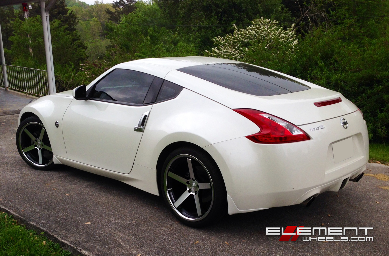 stance sc5 matte black machined 2010 nissan 370z w specs. Black Bedroom Furniture Sets. Home Design Ideas